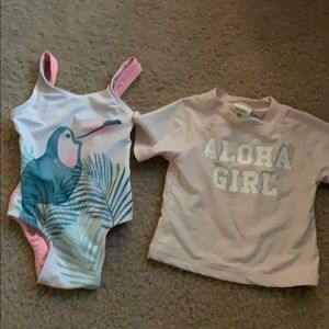 Toddler rash guard and swim suit size 18 months
